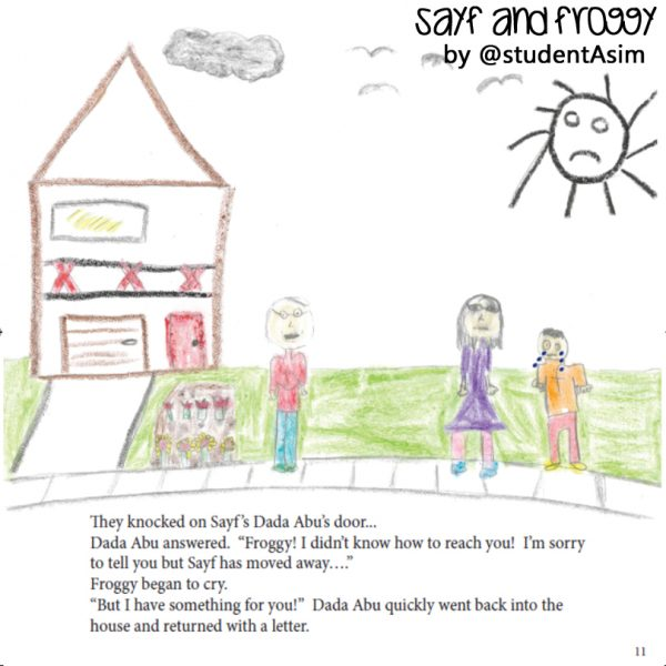 Inside the book: Art work of Sayf and Froggy by @studentAsim