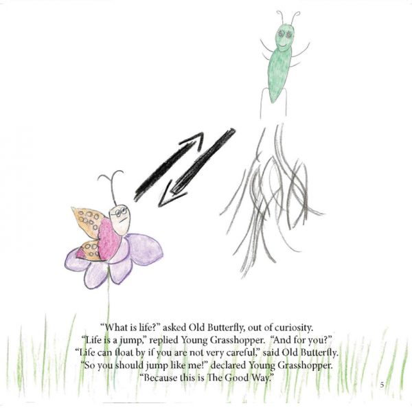Artwork for The Young Grasshopper and The Old Butterfly by @studentAsim