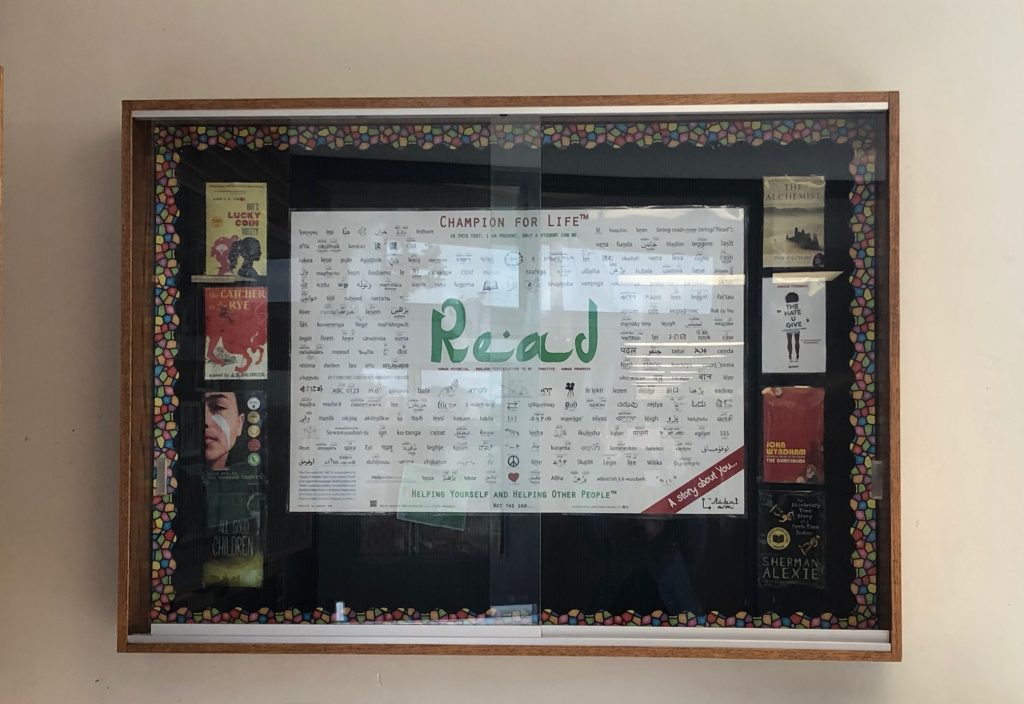 The Champion for Life™ print on display at a learning institution.